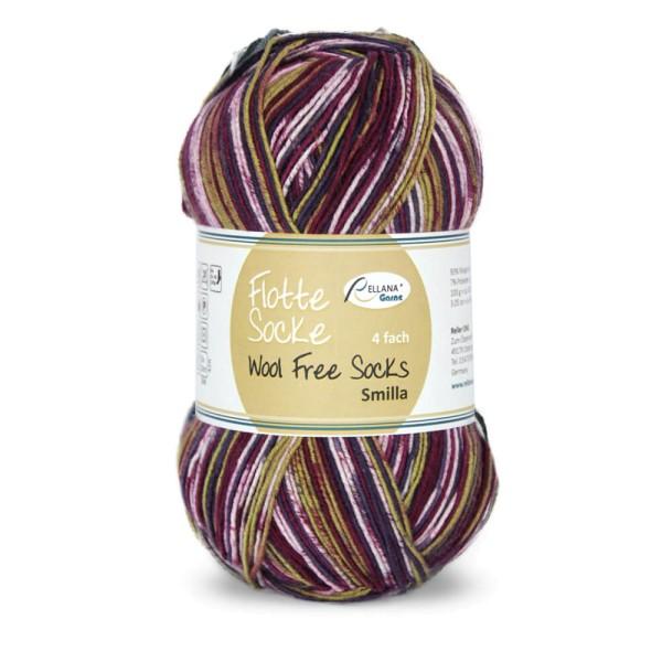 Flotte Socke 4f. Wool Free Smilla