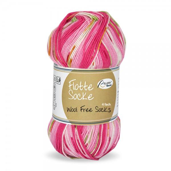 Flotte Socke 4f. Wool Free Stretch