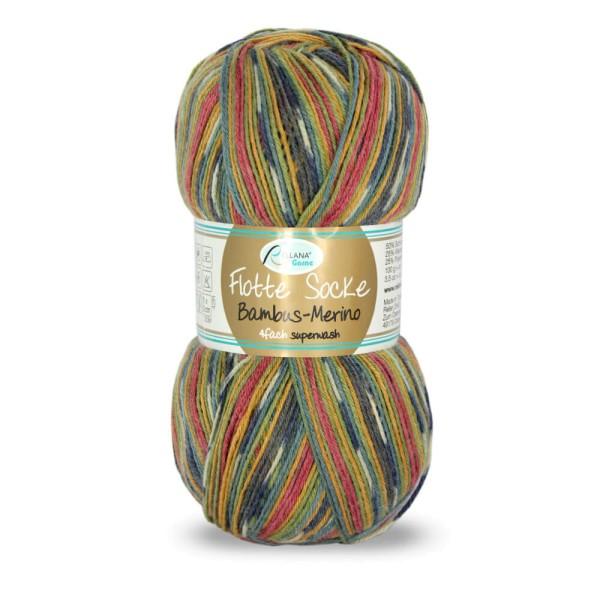 Flotte Socke 4f. Bambus-Merino
