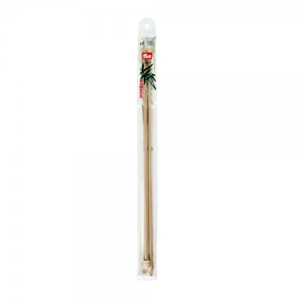 Jackenstricknadeln Bambus mit Knopf