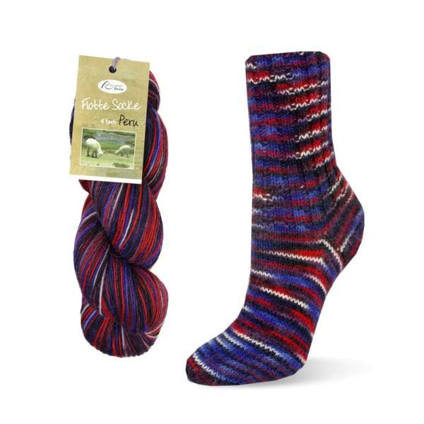 Flotte Socke 4f. Peru