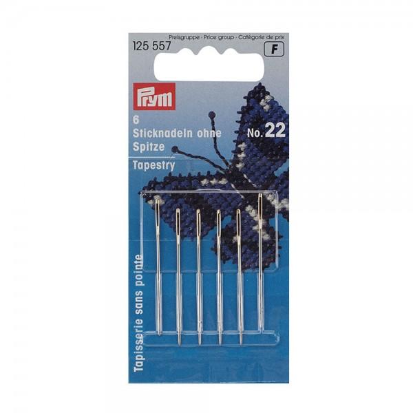 Sticknadeln mit Spitze Stahl 24 silberfarbig 0,80 x 37 mm