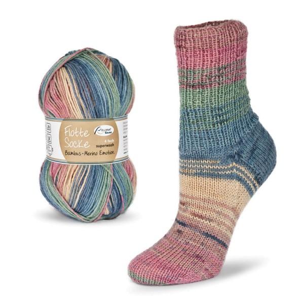 Flotte Socke 4f. Bambus-Merino Emotion