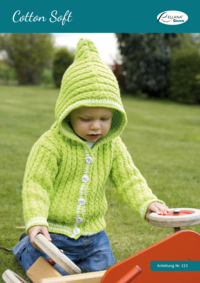 115 Cotton Soft Babyjacke mit Kapuze