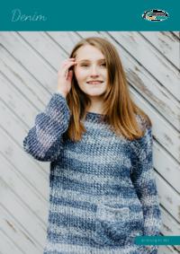 417 Denim | Pullover mit Tasche