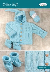 63 Cotton Soft Babyjacke und Schuhe