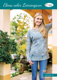 375 Elena color Leinengarn | Pullover mit Cut-Outs